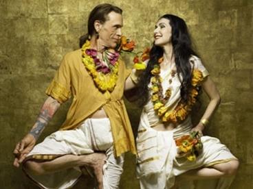 Jivamukti yoga's founders: David Life and Shannon Gannon.